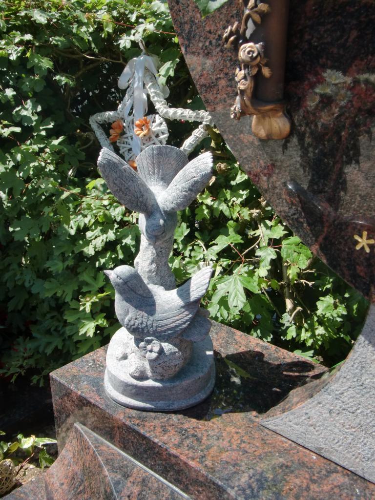 gehakte vogels graniet