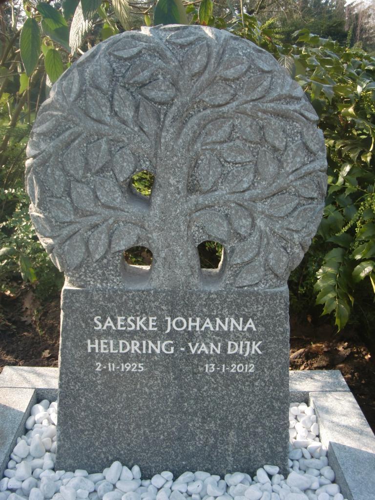 Hassan Green graniet handgehakt Grafmonument