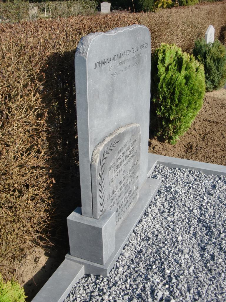 grafsteen dubbel Belgisch hardsteen