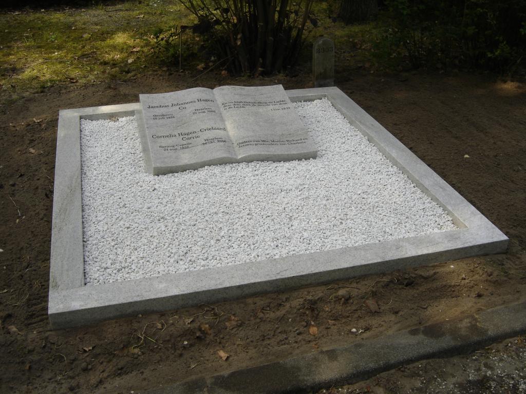 grafmonument dubbel in Viscount white graniet
