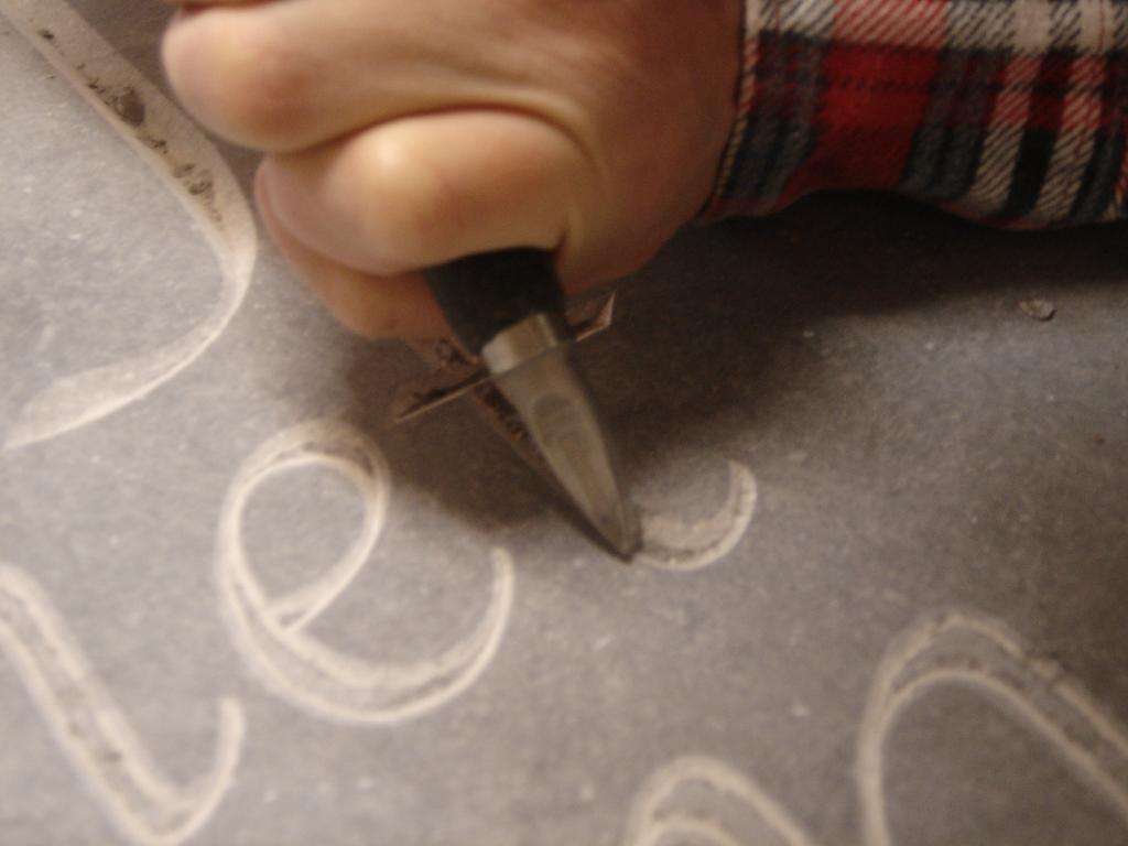 ontwerp hardsteen handgehakte letters