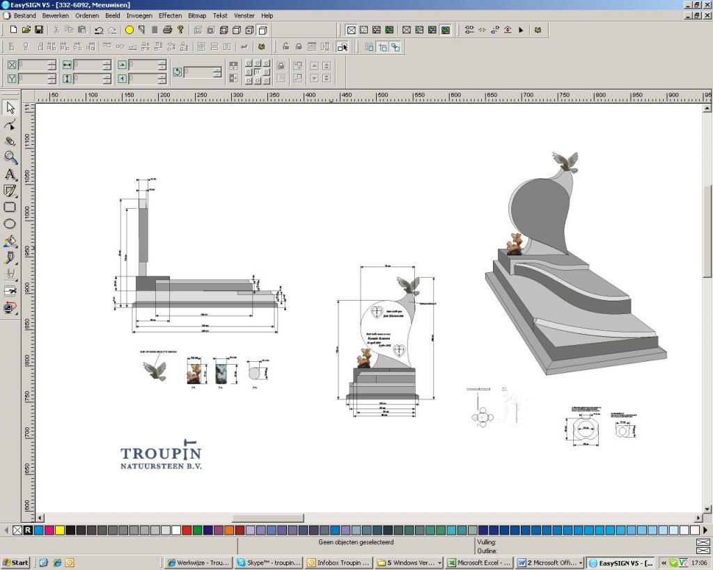 screenshot ontwerp grafsteen